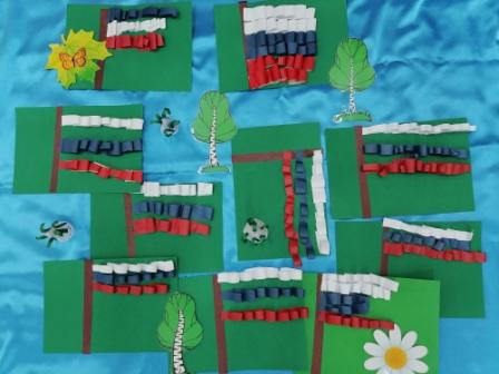 Фрагменты солнечного лета — счастливые дети —  флаг моей Родины